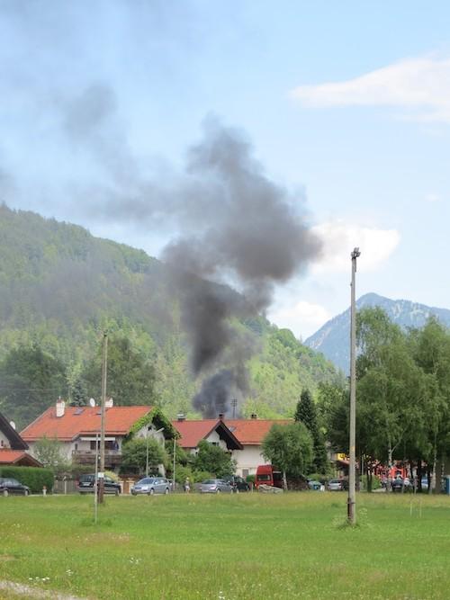 Brand an der Tankstelle