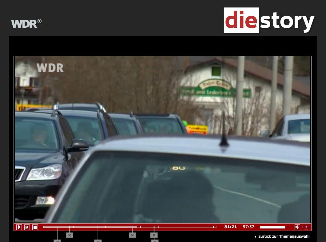 Stau in Oberau