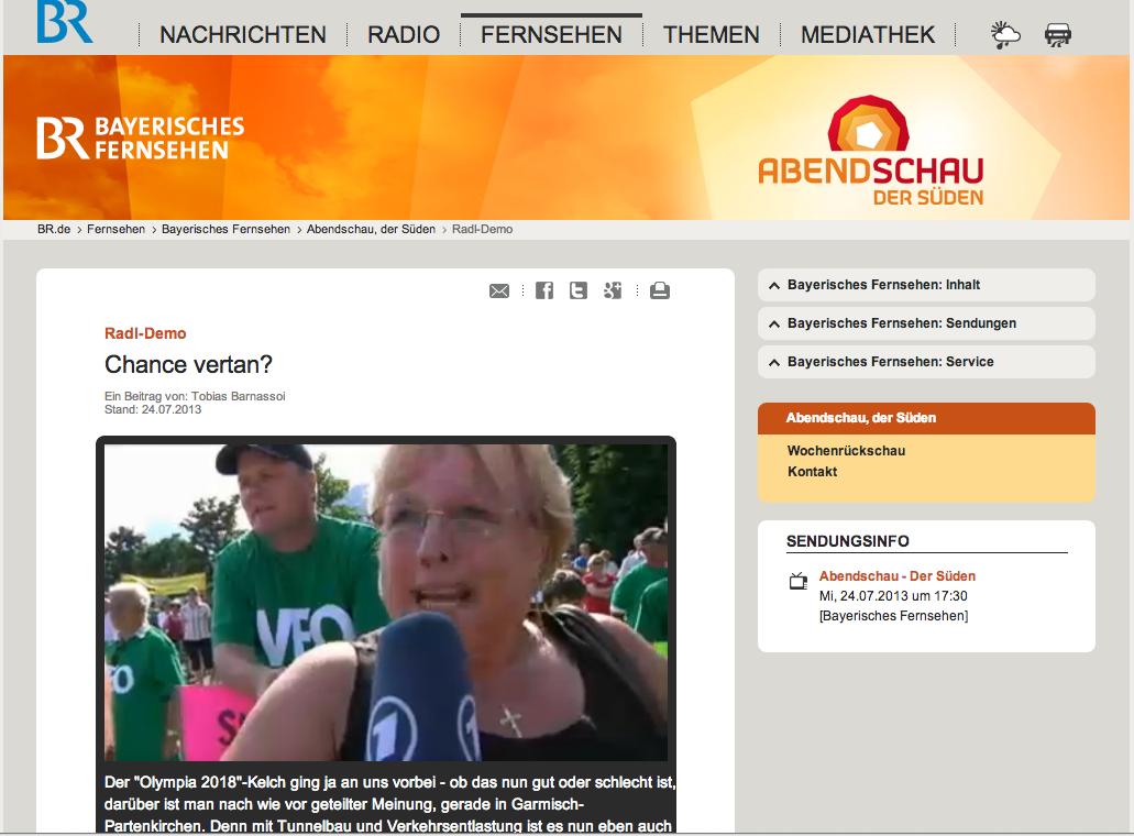 Die Abendschau des Bayerischen Rundfunks