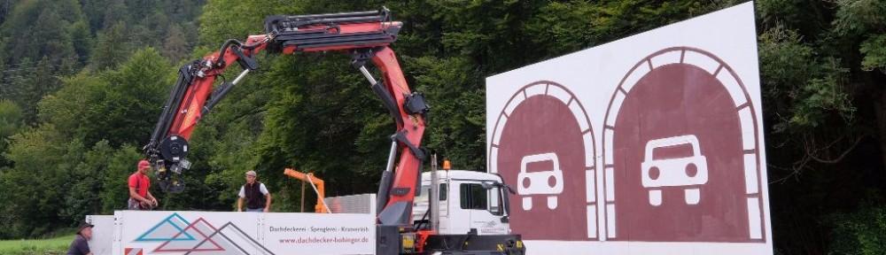 Abbau provisorisches Tunnelportal