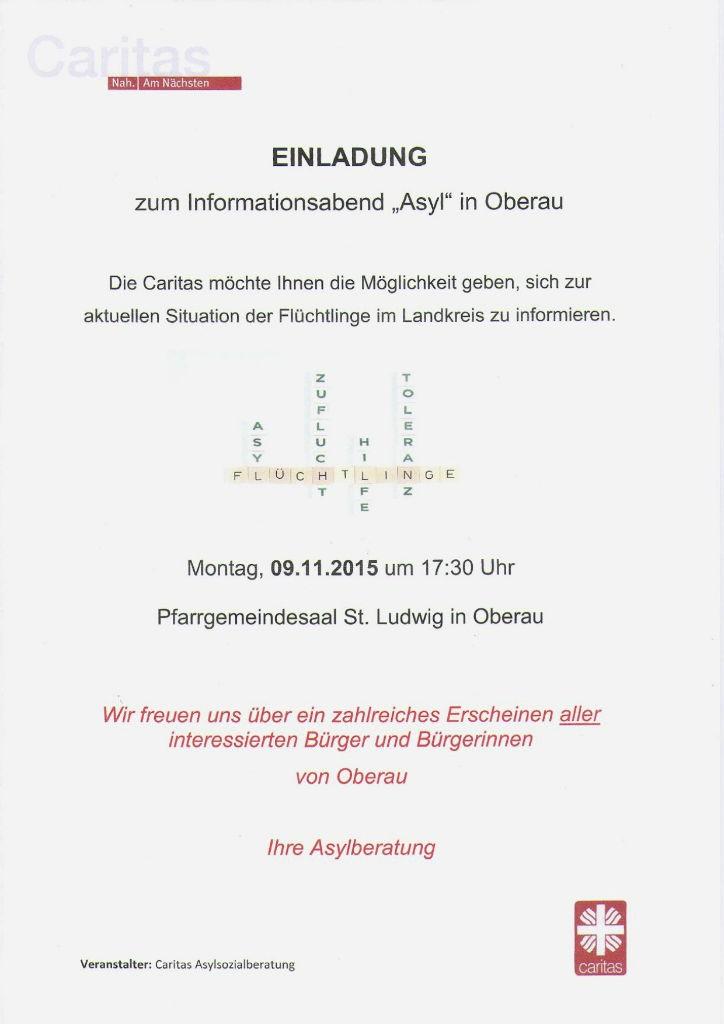 Einladung Infoabend Asyl